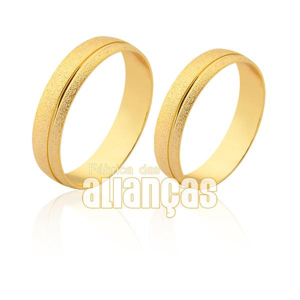 Alianças em ouro 18k diamantada