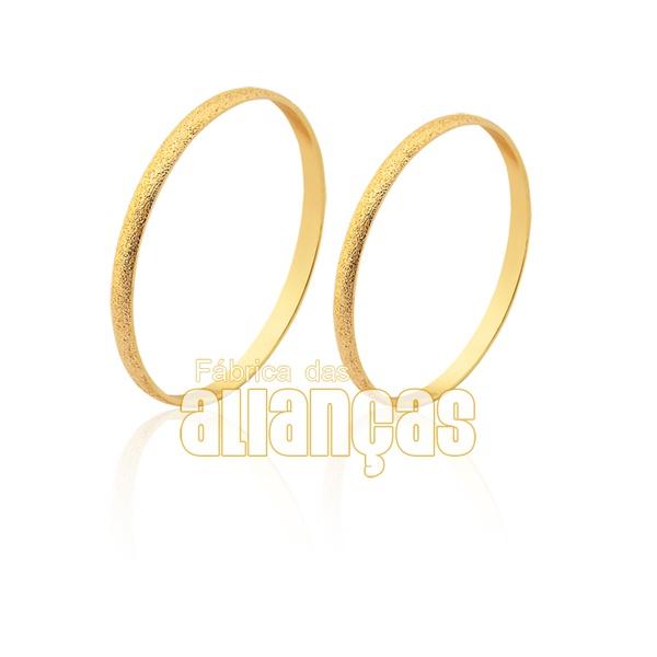 Alianças delicada em ouro 18k