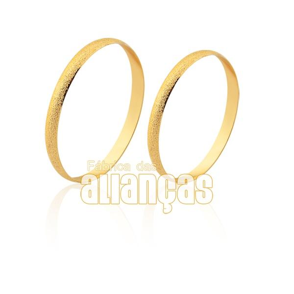 Alianças fina em ouro 18k