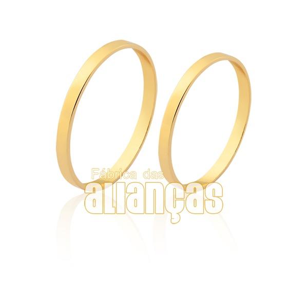 Alianças De Casamento De Ouro 10k