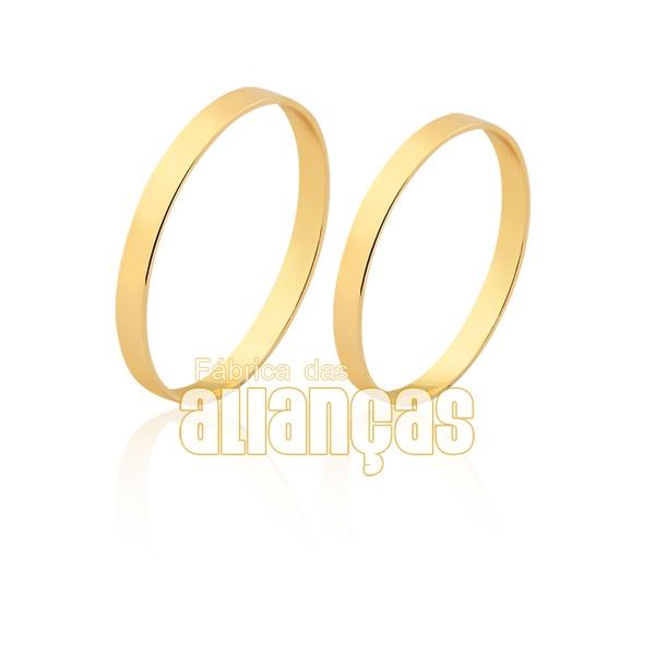Alianças Reta De Ouro 18k
