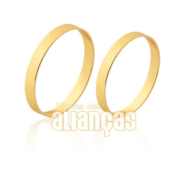 Alianças Finas De Noivado e Casamento De Ouro 10k