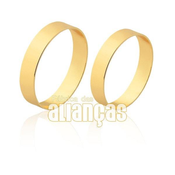 Alianças Finas De Noivado e Casamento Em Ouro Amarelo 18k
