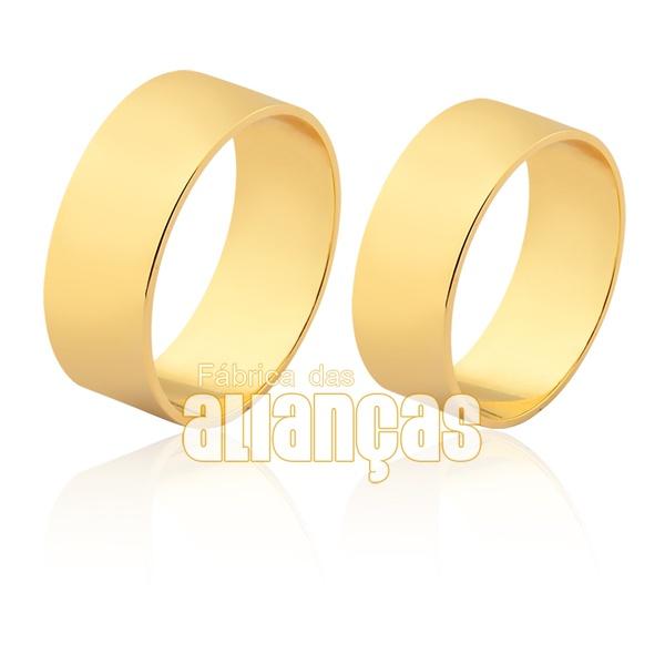Alianças De Casamento Em Ouro Amarelo 18k