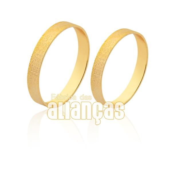 Aliança de ouro diamantada