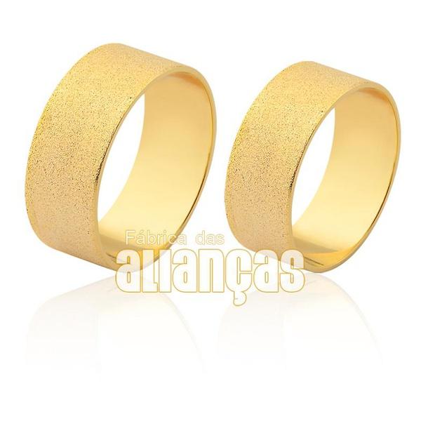 Aliança diamantada em ouro 18k