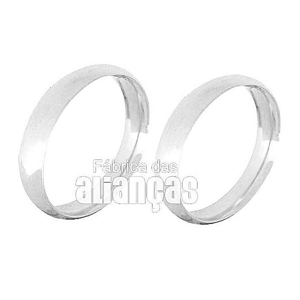 Alianças De Noivado e Casamento Em Ouro Branco 18k 0,750 Fa-133-b