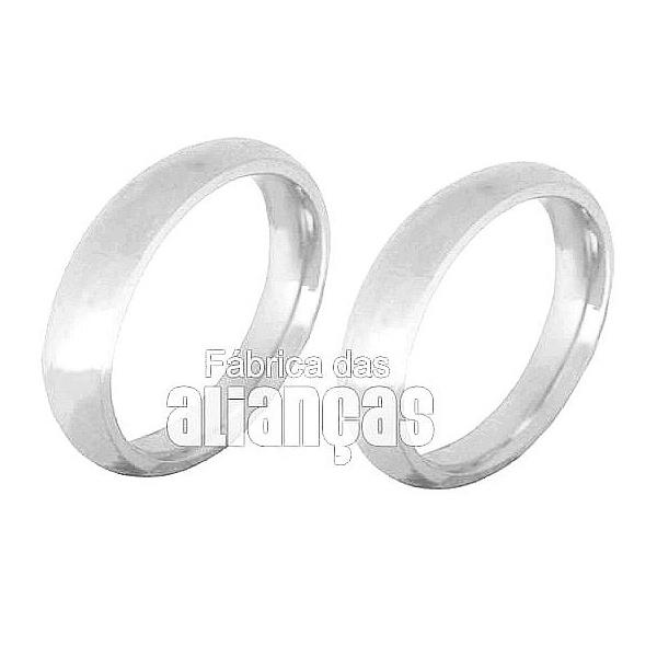 Alianças De Noivado e Casamento Em Ouro Branco 18k 0,750 Fa-135-b - FA-135-B - Fábrica das Alianças