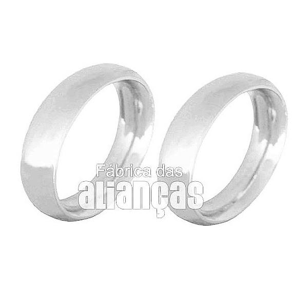 Alianças De Noivado e Casamento Em Ouro Branco 18k 0,750 Fa-139-b