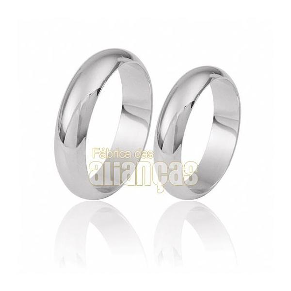 Alianças De Noivado e Casamento Em Ouro Branco 18k 0,750 Fa-21-b
