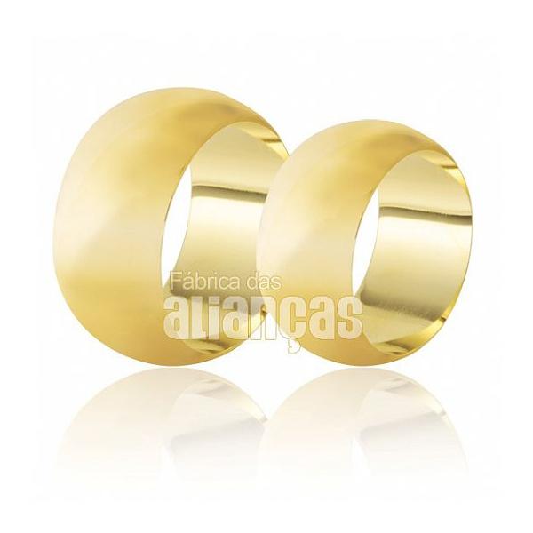 Alianças Abauladas De Ouro 18k