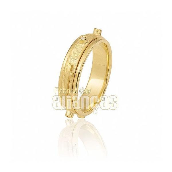 Aliança De Terço Em Ouro Amarelo 18k 0,750 Fa-548