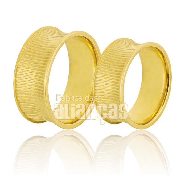 Alianças Concava de Ouro 18k