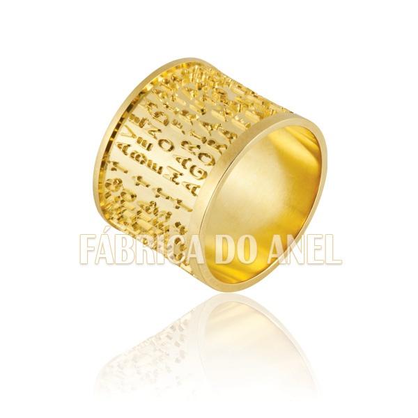 Aliança De Noivado e Casamento Em Ouro Amarelo 18k 0,750 Fa-865