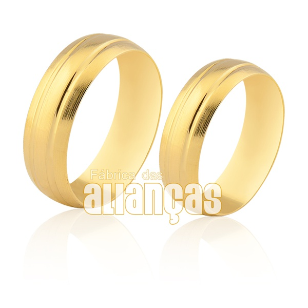 Alianças De Noivado e Casamento Em Ouro 10k