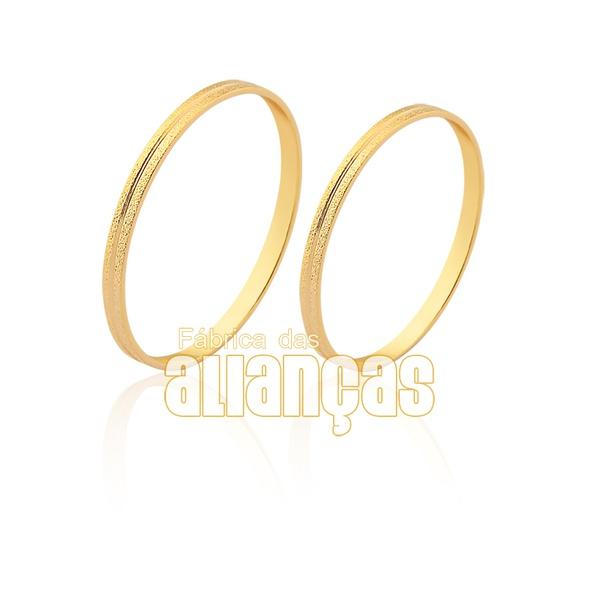 Lindas Alianças De Noivado e Casamento Em Ouro Amarelo 10k
