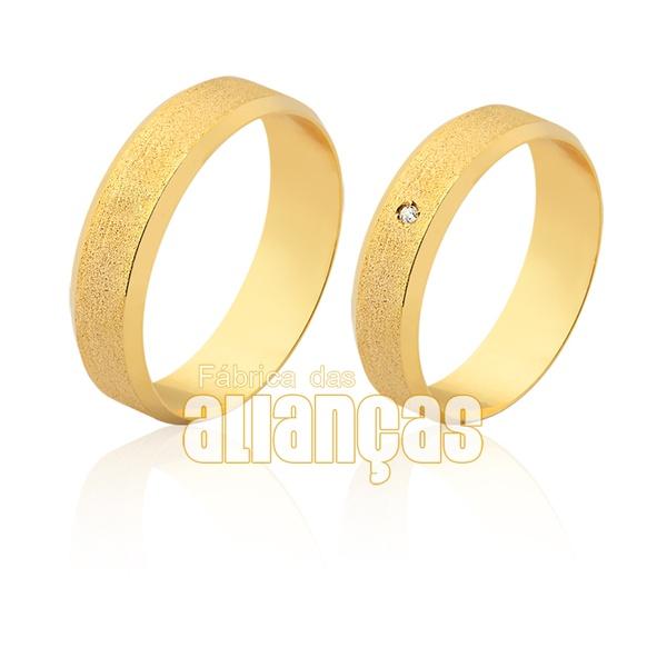Aliança fina em ouro 18k com brilhante
