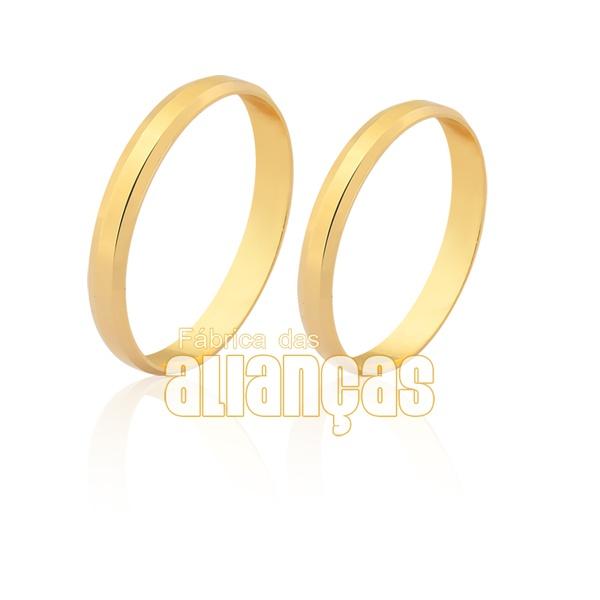 Alianças tradicional em ouro 18k