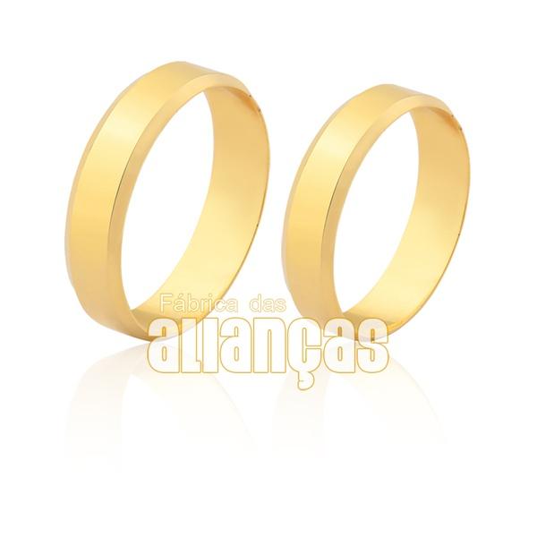 Aliança simples em ouro 18k