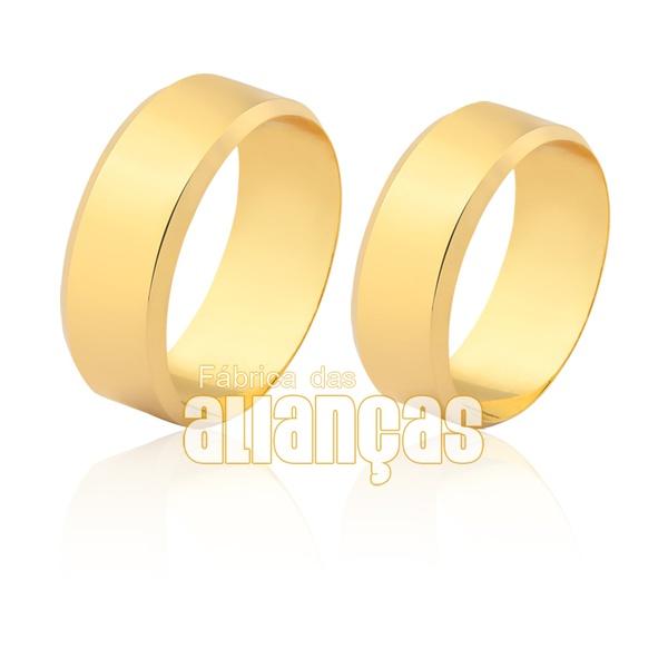 Alianças redonda em ouro 18k