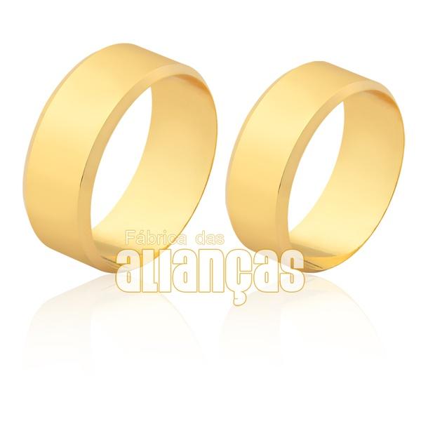 Aliança larga em ouro 18k