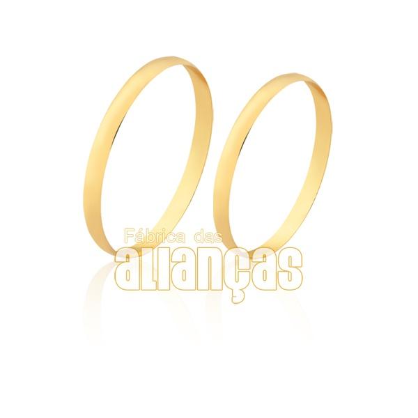 Aliança fina em ouro 18k