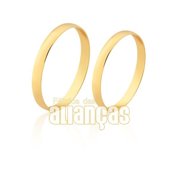 Alianças de Ouro Amarelo 10k