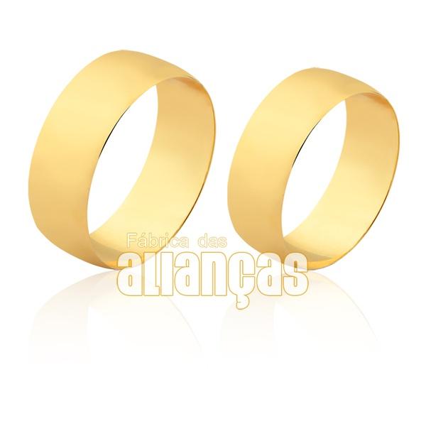 Aliança Larga De Ouro 10k