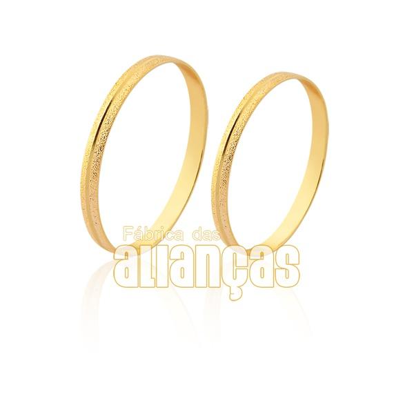 Aliança de ouro fina e diamantada