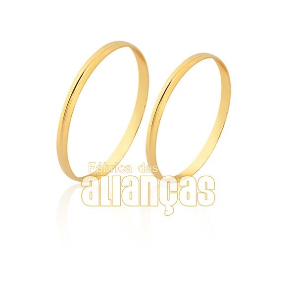 Alianças finas em ouro 18k