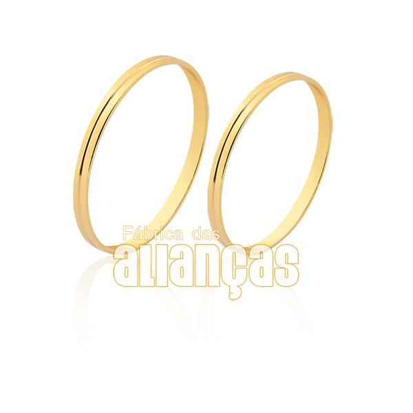 Aliança de ouro 18k delicada