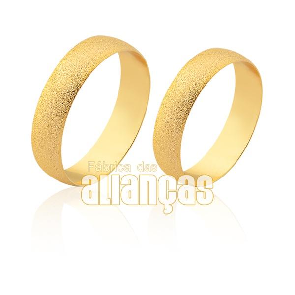 Alianças De Noivado e Casamento Em Ouro Amarelo 10k