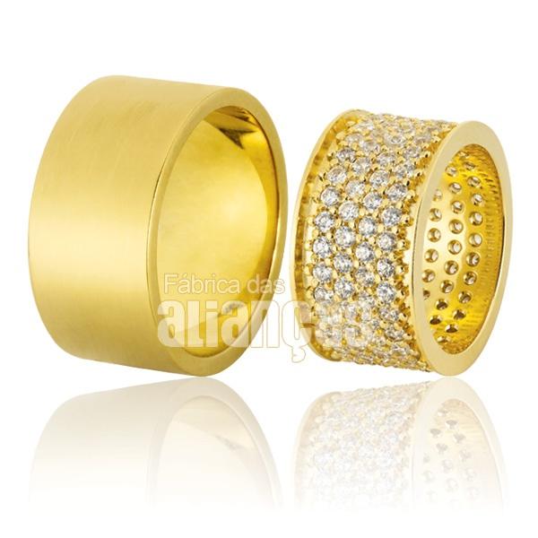 Alianças De Ouro18k Com Diamantes