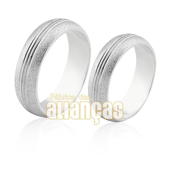 Alianças Baratas De Prata Para Compromisso - FA-AG-013 - Fábrica das Alianças