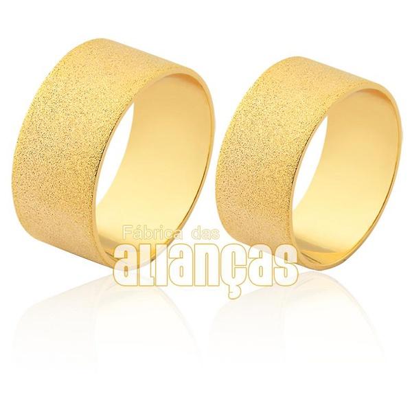 Aliança em ouro 18k diamantada larga