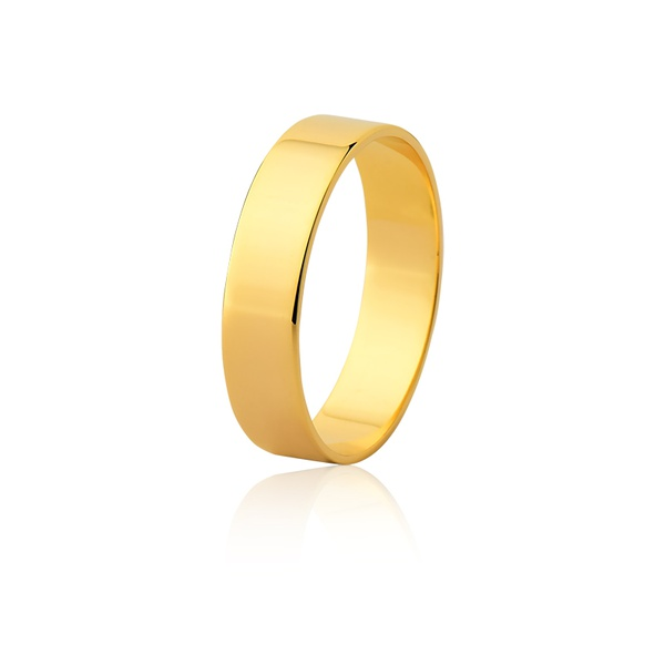 Aliança Ouro Amarelo 18k (5,00mm)