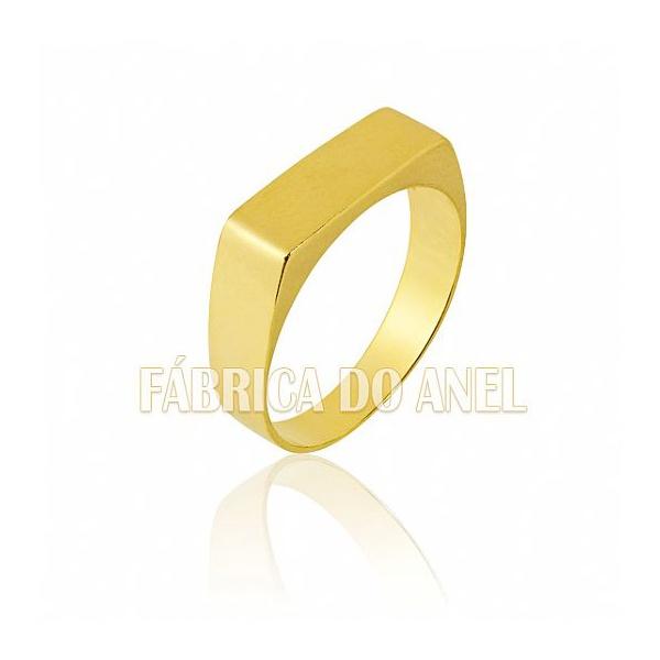 Anel Masculino Em Ouro Amarelo 18k 0,750 A-07