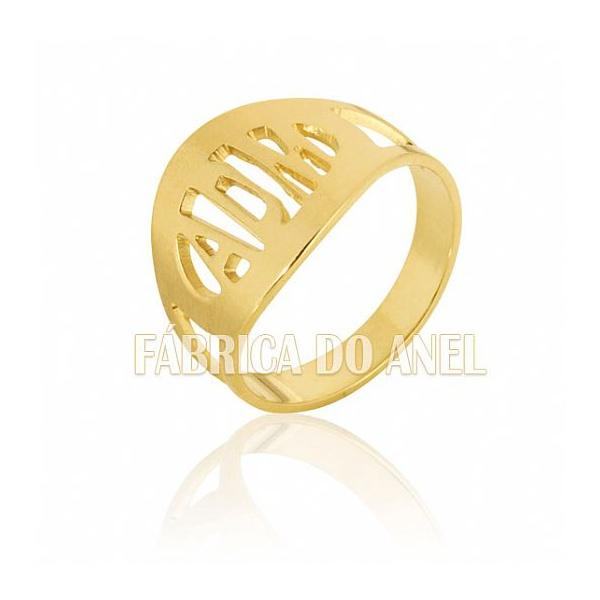 Anel De Formatura Em Ouro Amarelo 18k 0,750 Fa-608