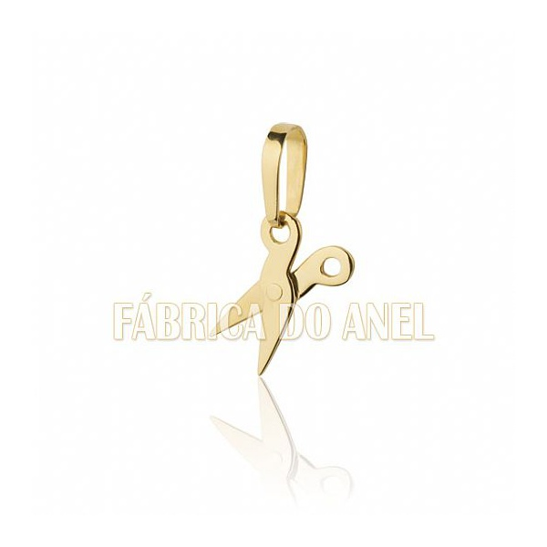 Pingente De Formatura De Cabeleireiro Em Ouro Amarelo 18k 0,750 P-12