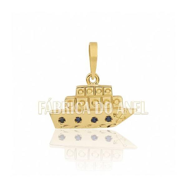 Pingente De Formatura De Turismo Em Ouro Amarelo 18k 0,750 P-27