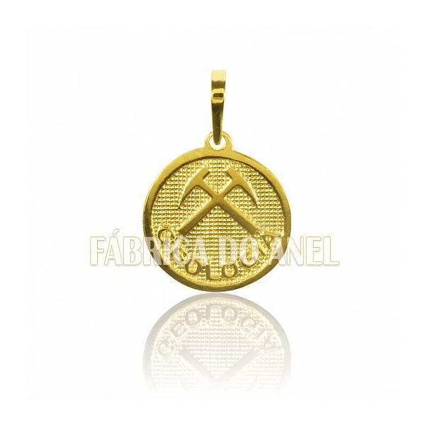 Pingente De Formatura De Geologia Em Ouro Amarelo 18k 0,750 P-54