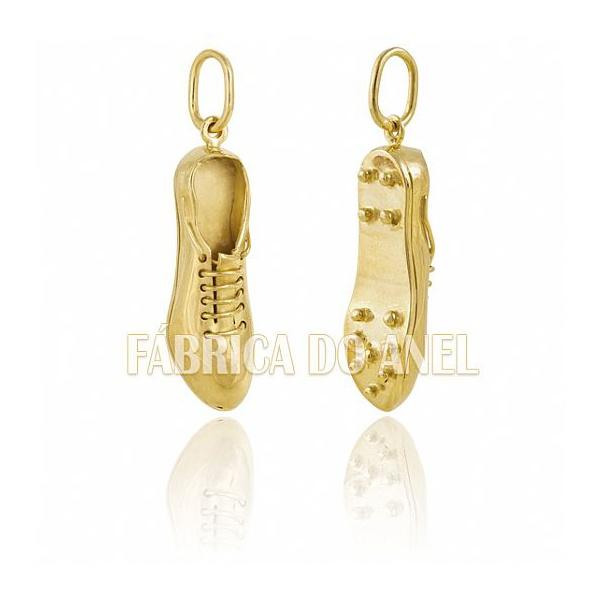 Pingente Exclusivo De Chuteira Em Ouro Amarelo 18k