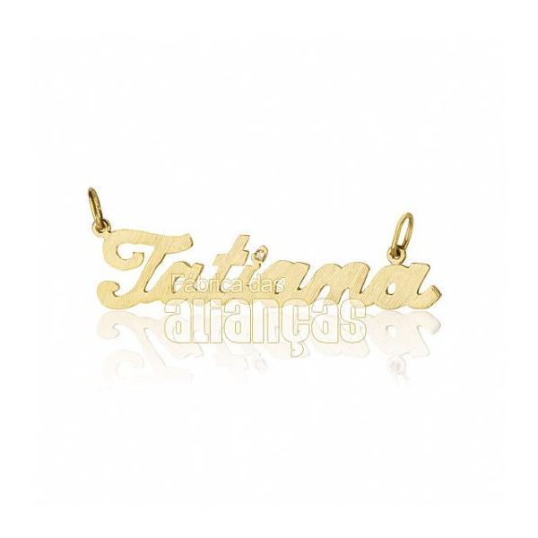 Pingente De Nome Em Ouro Amarelo 18k 0,750 Fa-p-153