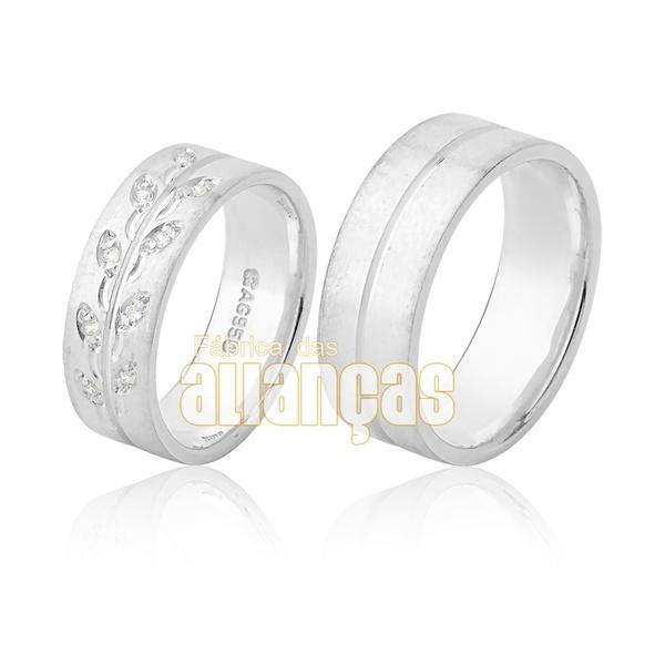 Alianças De Namoro De Prata Com Pedras