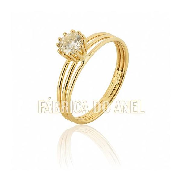 Anel Solitário Com Diamante De 0,50 Ct.