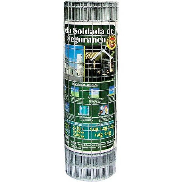 Tela Soldada Segurança 150X50MMX2,50X1,00X25MTS - Morlan