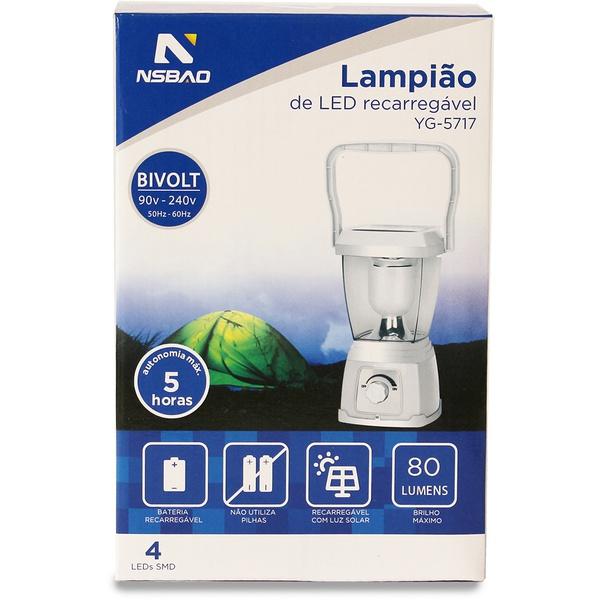 Lanterna Lampião de Led YG-5717 - NSBAO