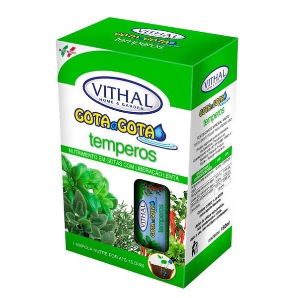 Fertilizante Gota a Gota para Temperos com 6 ampolas - Vithal