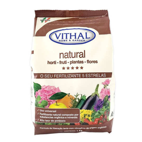 Fertilizante Natural Horti-Fruti, Plantas e Flores 1kg - Vithal