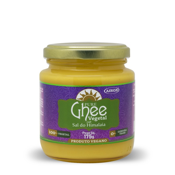 Manteiga Ghee Vegetal com Sal do Himalaia